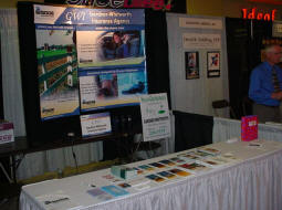 Our booth at the Chamber of Commerce Business Expo