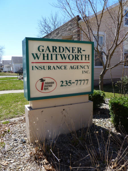 Welcome sign at Gardner-Whitworth Insurance Group, Mattoon, IL